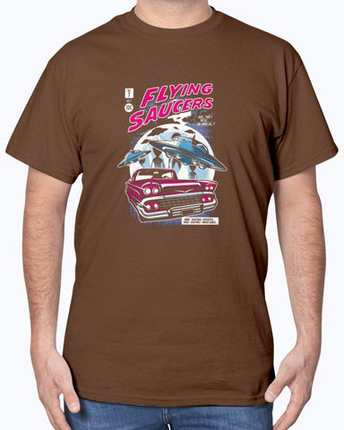 Image of UFOs Flying Saucer SciFi T-Shirt
