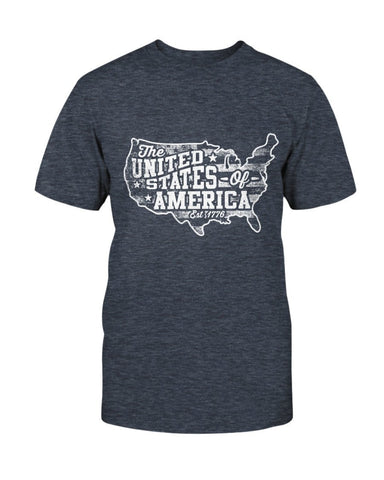 Image of United States Of America est. 1776 With The US Map T-Shirt