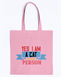 Yes I Am A Cat Person Tote Bag