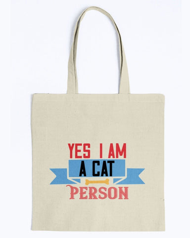 Image of Yes I Am A Cat Person Tote Bag