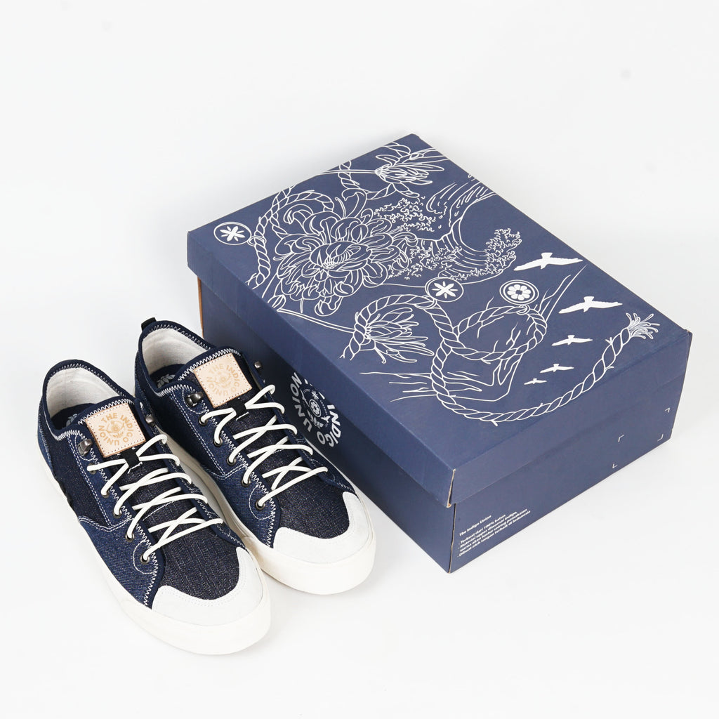 The Indigo Union : Two Tone Indigo Denim Low