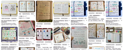 A Pinterest board dedicated to Hobonichi planners