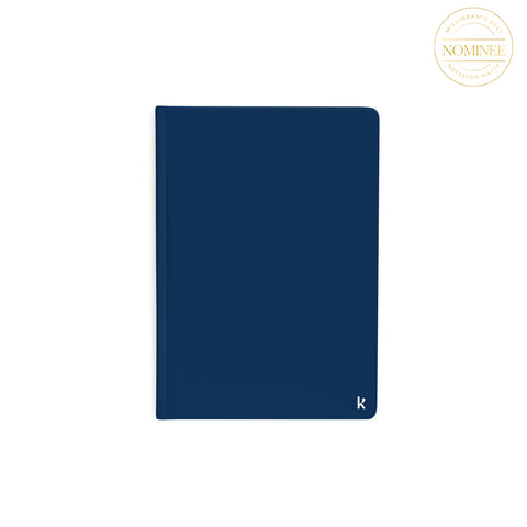 Karst's Stone Paper Notebook with a navy blue cover
