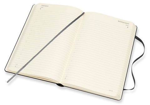 Moleskine Daily Diary, open to show the daily view