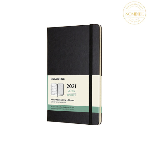 Moleskine 2021 Hard Cover Weekly Notebook Diary