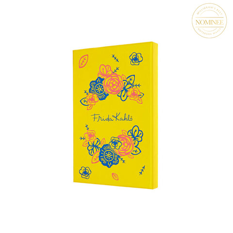 Moleskine Frida Kahlo Collector's Edition Notebook, in a yellow presentation card box decorated with flowers after Frida's own style