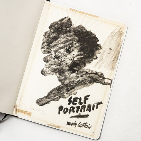 A Guthrie self-portrait from one of his notebooks, recreated in Volume 223's Composition Notebook