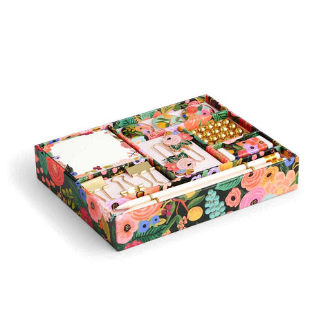 Rifle Paper Co. Tackle Box Set (a rectangular tray with compartments for notepads, pencils, clips and more)