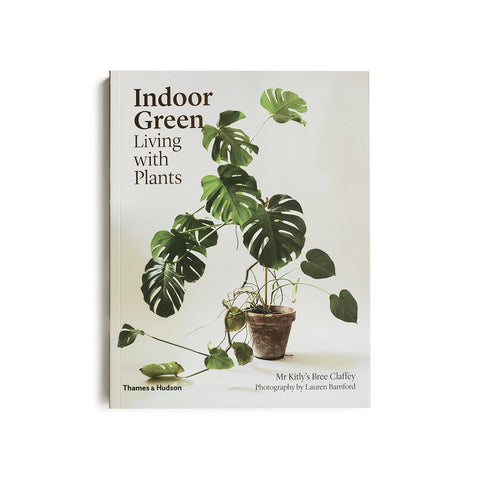 Indoor Green: Living With Plants [img: a hardcover book with a flourishing monstera on the cover]
