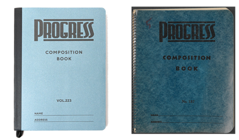 Volume 223's Composition Notebook (left) and the Guthrie original
