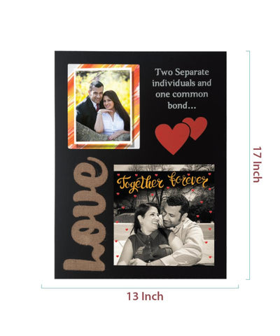 2 Photos Wooden Photo Frame