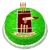 CRICKET PITCH CAKE