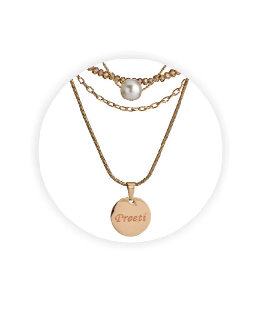 Name Engraved Ladies Pendant