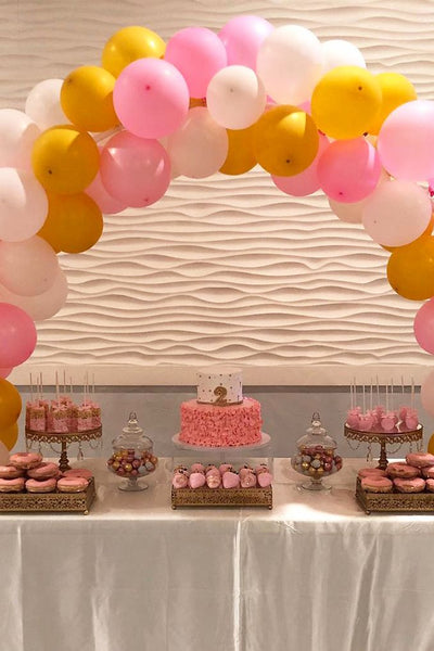 PINK CAKE BIRTHDAY DESERT TABLE