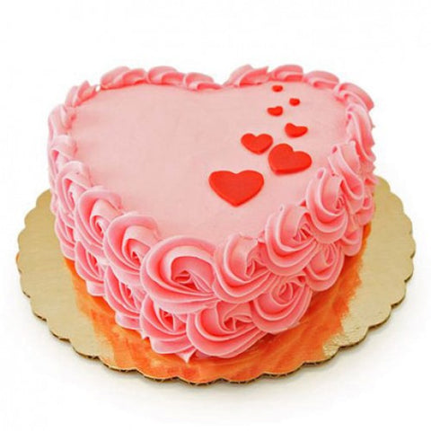 PINK HEART SHAPED CHOCOLATE CAKE