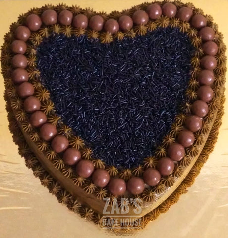 CHOCOLATE HEART SHAPED CREAM CAKE