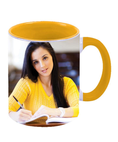 Yellow Two Tone Personalised Ceramic Mug