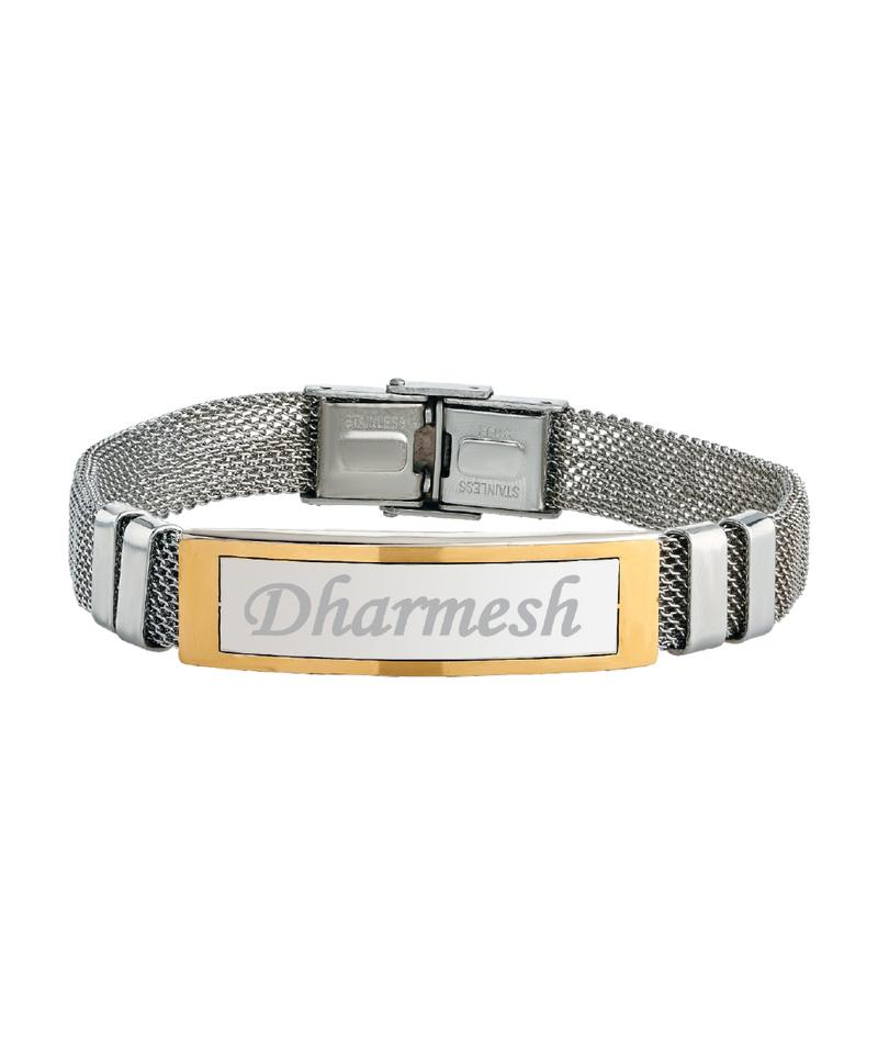 Name Engraved Men Bracelet
