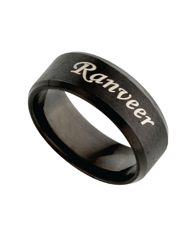 Name Engraved Men Ring - M-18