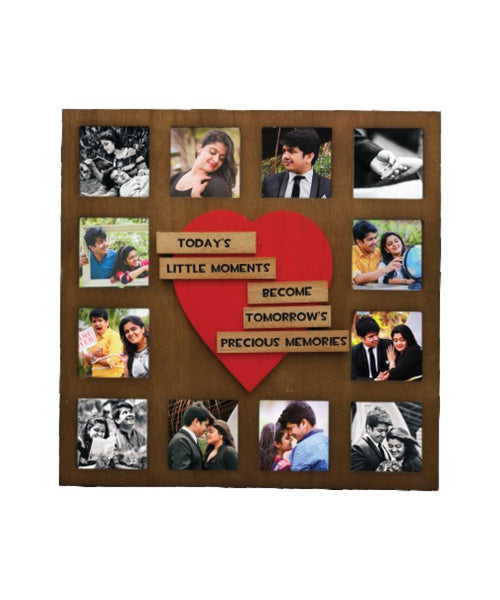 Wooden Collage Photo Frame- 12 Photos