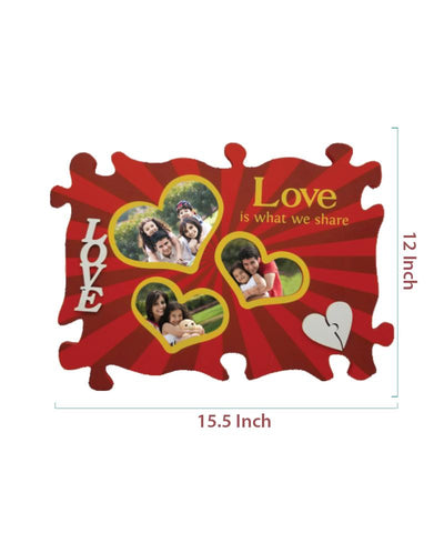 Wooden Collage Photo Frame-3 Photos