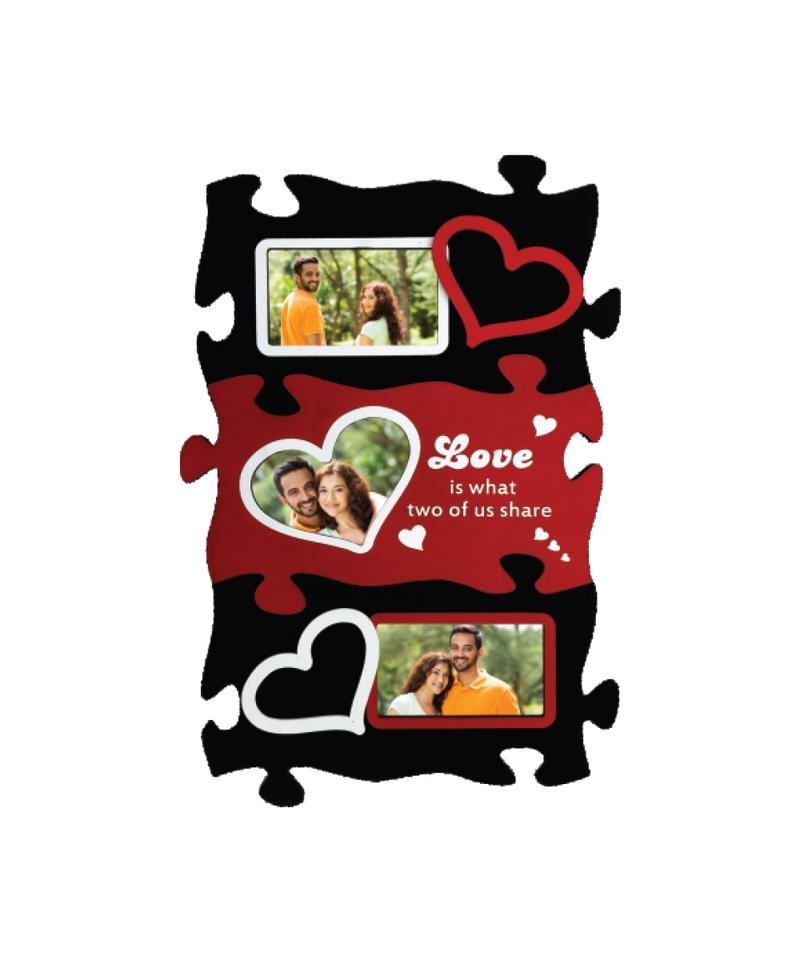 Wooden Collage Photo Frame- 3 Photos