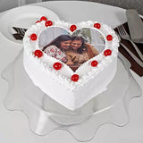HEART VANILLA PHOTO CAKE