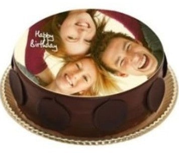 CHOCOLATE ROUND PHOTO CAKE