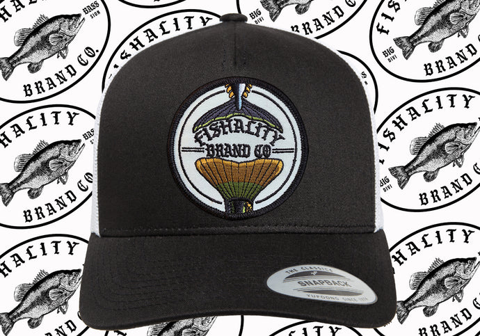 2 Tail Logo Patch Style Snapback Curved Bill - Mesh Back