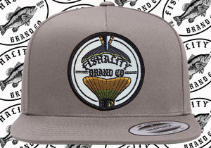 2 Tail Logo Patch Style SnapBack Flat Bill - Canvas / Mesh
