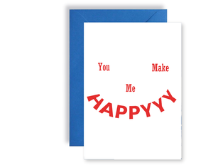 You Make Me Happy - Card