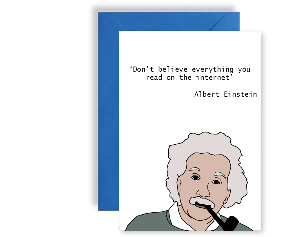 Albert Einstein - Card