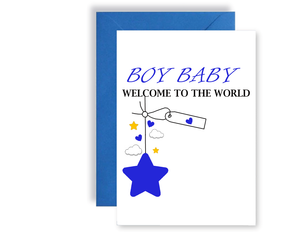 Baby Boy Welcome To The World - Card