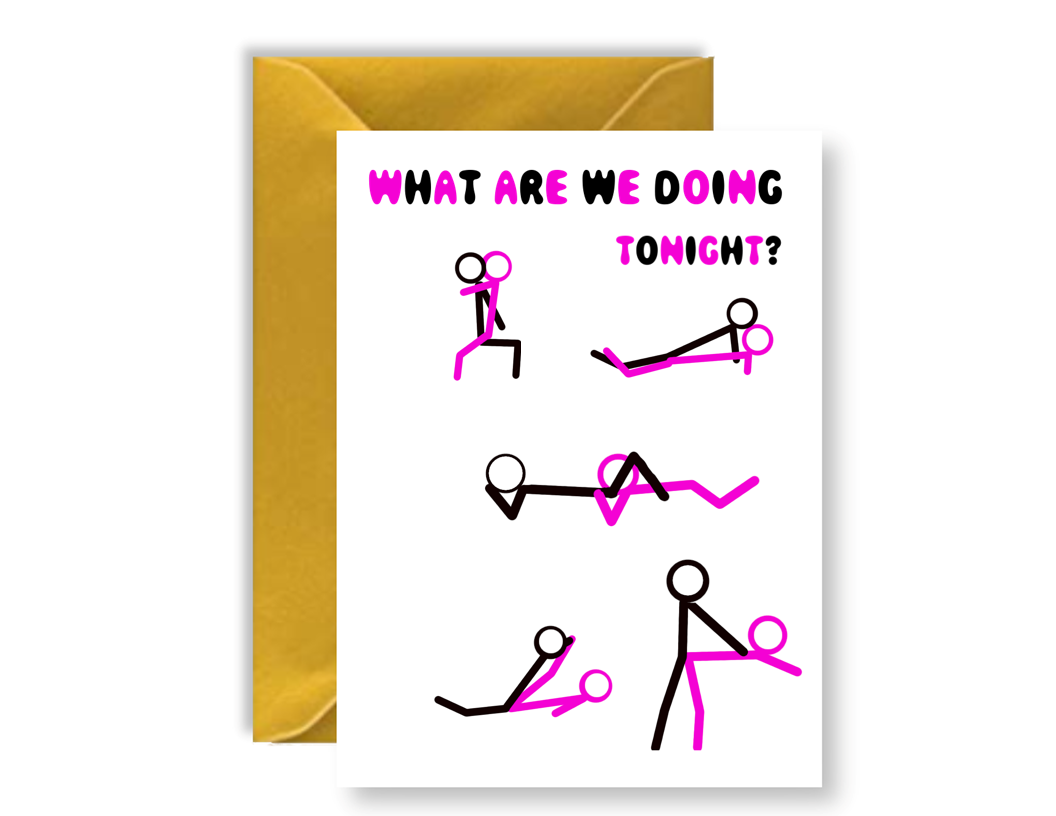 What Are We doing Tonight? - Card