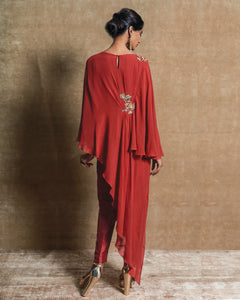 Red Tunic with Pants Set