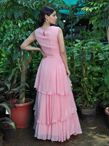 Peach Tiered Gown