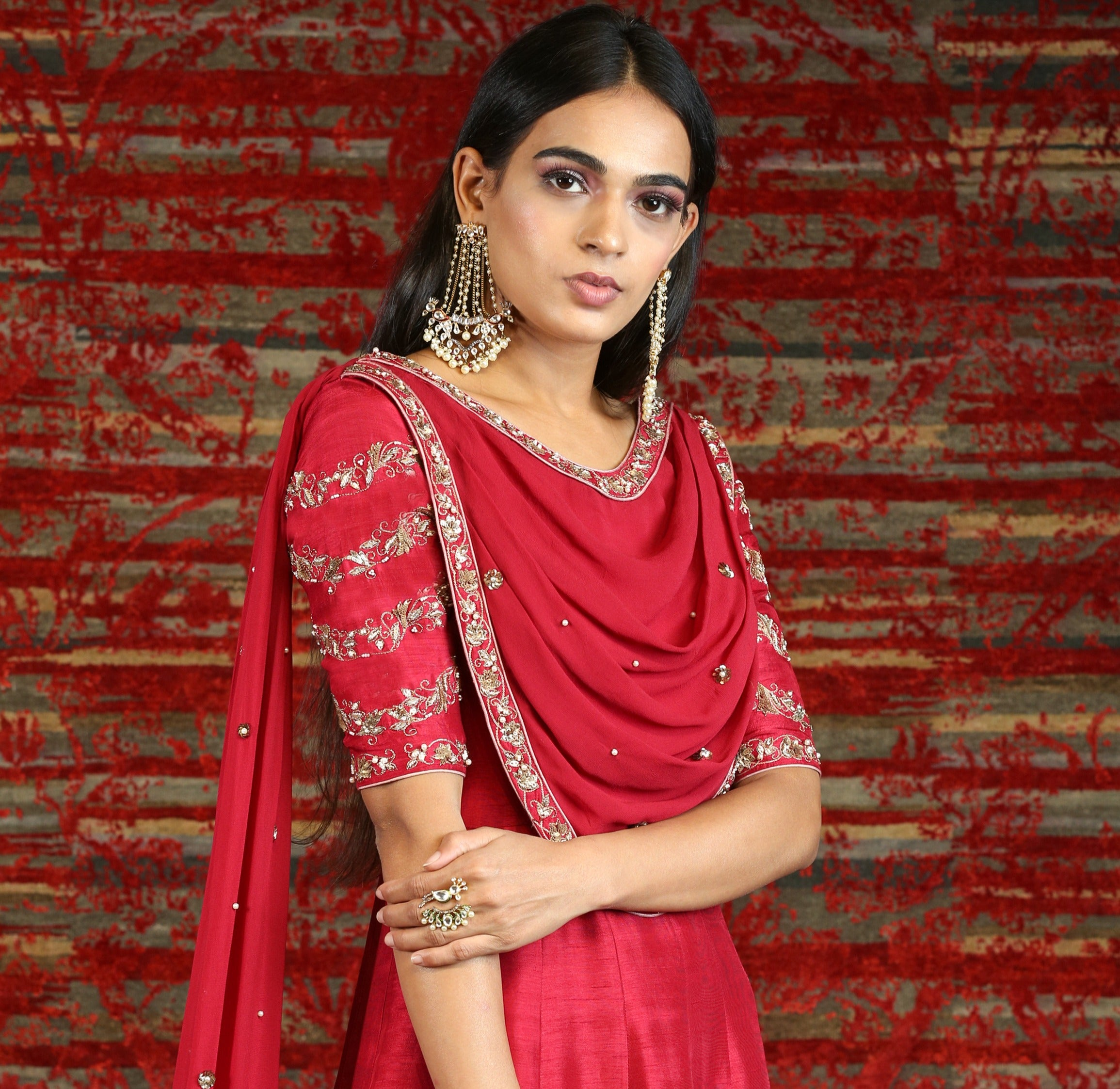 Anarakali with Attached Dupatta