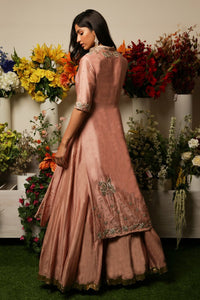 Pink Anarkali With Jacket