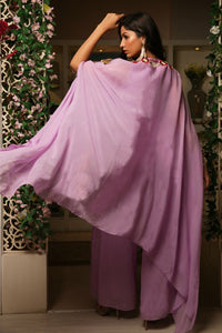 Lilac Cape with Sharara Pants set