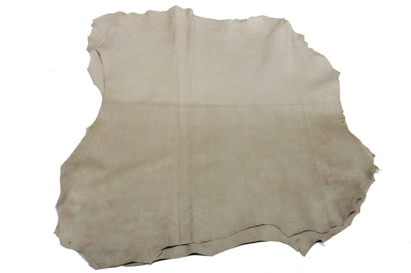 Italian Goatskin leather skin skins hide hides SUEDE LIGHT BEIGE 3sqf #8700