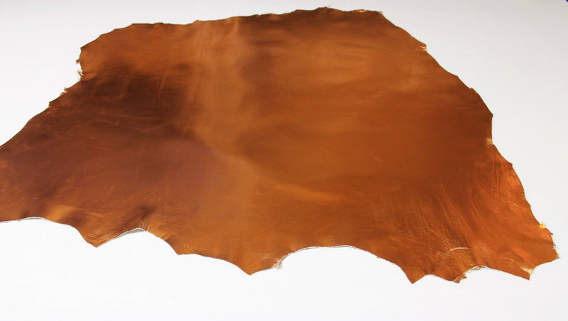 Italian lambskin Lamb Sheep leather 12 skins hides METALLIC COPPER 80-90sqf