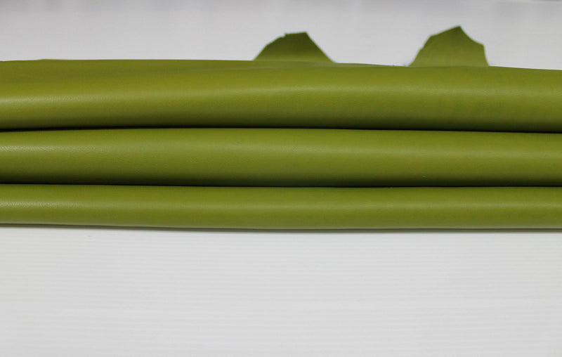 AVOCADO GREEN PISTACHIO Italian genuine Lambskin Lamb Sheep leather skins hides 0.5mm to 1.2mm