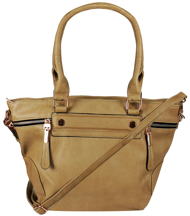 Boutique PU Leather Womens Shoulder Bag Top-Handle