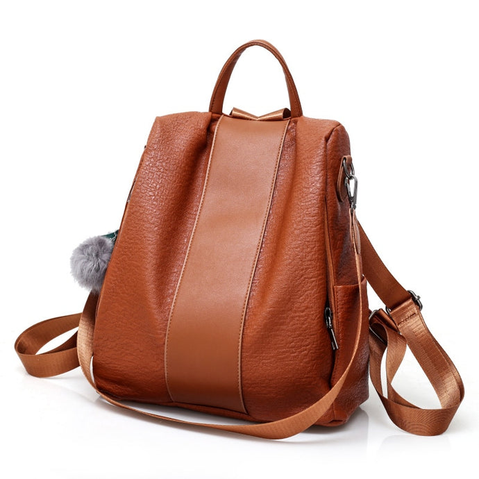 anti theft design women backpack purse casual
