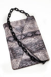 Faux snakeskin Chain bag