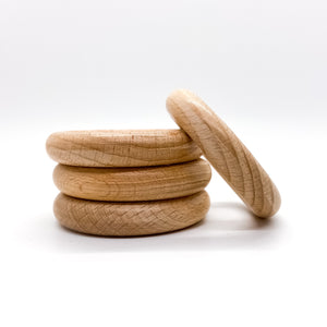 55mm (2.17 inches) Beech Wood Rings