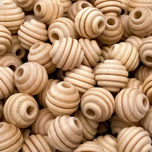 "5/8"" Wooden Beehive Beads"