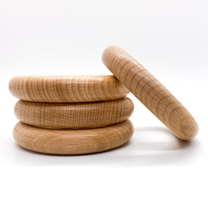 70mm (2.76 inches) Beech Wood Rings