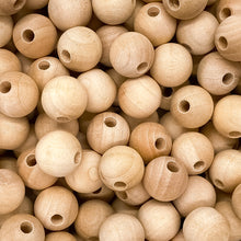 "Load image into Gallery viewer, 1/2"" (12mm) Round Wooden Beads"