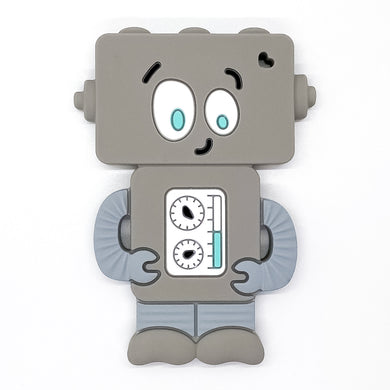 Gray Mr. Roboto Teether